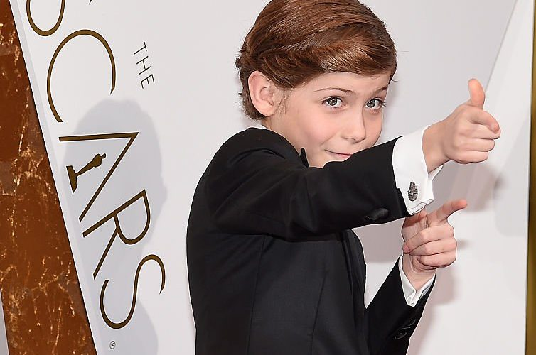 "Award-winning ""Room"" actor Jacob Tremblay at the 2016 Oscars"
